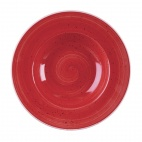 Churchill Stonecast Round Wide Rim Bowls Berry Red 280mm