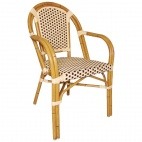 CF401 Continental Bistro Wicker Armchair (Pack of 4)