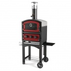 Wood Fired Oven and Smoker Red GLPZ5EUR