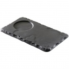DP936 Basalt Saucer with Indent