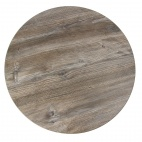 Round Table Top Vintage Pine Effect 600mm
