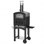 Wood Fired Oven and Smoker Black GLPZ5EUB