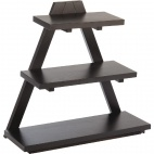 Triangle Wooden Buffet Stand Black