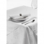 CE511 Roslin Woven Rose White Tablecloth