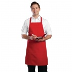B196 Red Adjustable Bib Apron