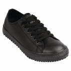 Ladies Old School Leather Trainer