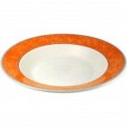 Churchill New Horizons Marble Border Pasta Plates Orange 300mm