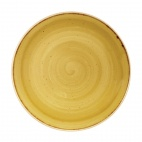 Churchill Stonecast Round Coupe Plates Mustard Seed Yellow 260mm