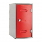 Plastic Single Door Locker Hasp and Staple Lock Red 600mm