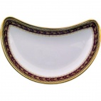 Churchill Nova Oxford Marone Crescent Salad Plate