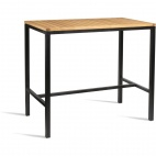 Wooden Square Poseur Height Table 1200mm