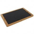 Smooth Edged Slate Platter 280x180mm