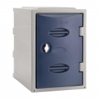 Plastic Single Door Locker Hasp and Staple Lock Blue 450mm