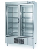 AEX1000-TF 1100 Ltr Glass Double Door Display Fridge