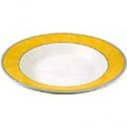 Churchill New Horizons Marble Border Pasta Plates Yellow 300mm