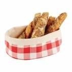 Bread Basket Oval Large Red