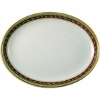 Churchill Nova Oxford Marone Oval Plates 254mm