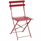 Red Pavement Style Steel Chairs (Pack of 2)