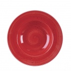 Churchill Stonecast Round Wide Rim Bowls Berry Red 240mm