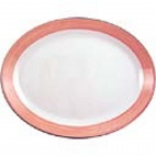 Rio Pink Oval Coupe Dishes 305mm