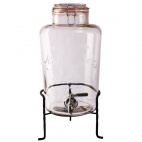 Nantucket Style Drink Dispenser with Wire Stand