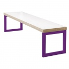 Dining Bench White with Violet Frame 3ft