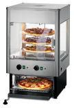 UMO50D Upright Heated Merchandiser With Rotating Rack And Built-In Oven