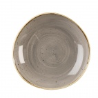 Churchill Stonecast Round Bowls Peppercorn Grey 253mm