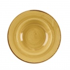 Churchill Stonecast Round Wide Rim Bowls Mustard Seed Yellow 240mm
