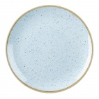 Churchill Stonecast Round Coupe Plates Duck Egg Blue 185mm