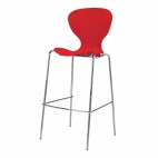 Stacking Red Plastic High Stool (Pack of 4)