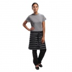 Urban Chesapeake Wide Stripe Half Bistro Apron Black - B348
