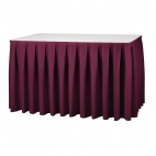 T999 Table Skirting - Bourdeaux Boxpleat Style