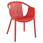 Red Polypropylene Tub Chairs (Pack of 4)