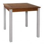 Square Wood and Aluminium Table 700mm