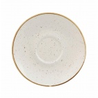 Churchill Stonecast Round Cappuccino Saucers Barley White 185mm