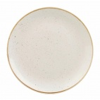 Churchill Stonecast Round Coupe Plates Barley White 185mm