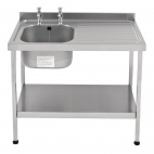 E20601RTPA 1000mm Stainless Steel Sink (Fully Assembled)