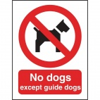 W354 No Dogs Sign