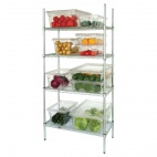 "L927 4 Tier Wire Shelving Kit. 457mm (18"") depth."