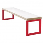 Dining Bench White with Red Frame 3ft