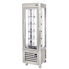 RD60T Revolving Display Fridge Silver 360 Ltr