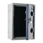 Plastic Single Door Locker Camlock Blue 450mm