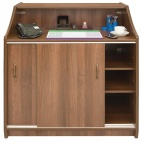 CF706 Deluxe Reception Counter 1000mm Walnut