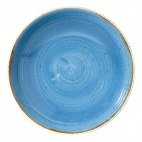 Churchill Stonecast Round Coupe Bowls Cornflower Blue 184mm