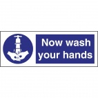 L957 Now Wash Your Hands Symbol Sign