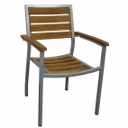 Y820 Teak and Aluminium Chairs (Pack of 4)
