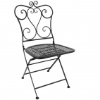Steel Classic Folding Patio Chair Black (Pack of 2)