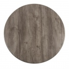 Werzalit Square Table Top Ponderosa Grey 600mm