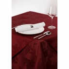 CE499 Roslin Woven Rose Burgundy Tablecloth